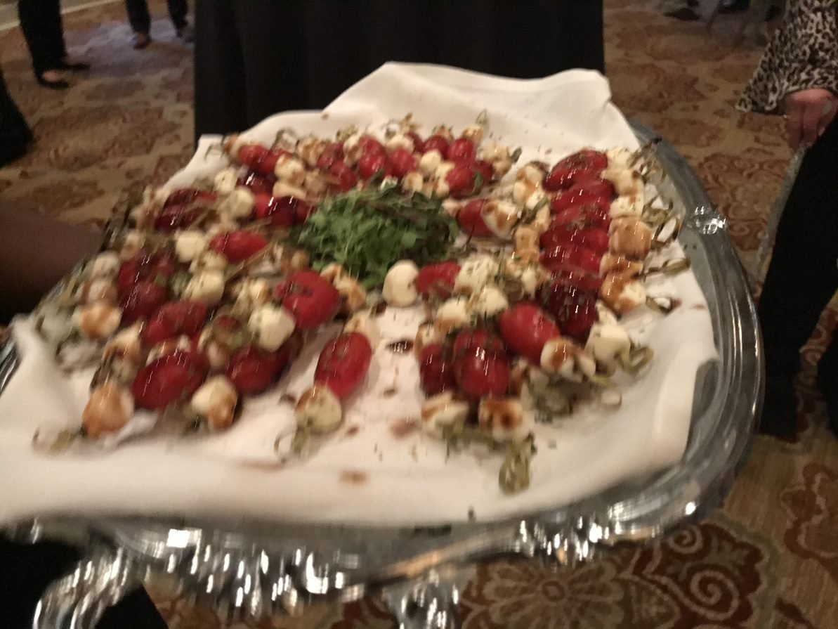 A dish of snacks for Oxford's clients